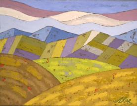 Lyubomir Karadeh, Abstract landscape, 2018