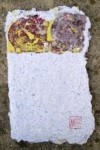 """Лаура Димитрова – """"Незавършен 2"""", арт книга, смесена техника-рециклирана хартия, 2013"""