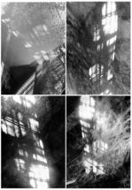 """Снежина Бисерова – """"Stairs to Heaven"""", инсталационна графична форма, 160/120см, 2018"""