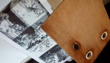 """Венцислава Стоянова – """"ПЪТ"""", инсталация, 28/75/8 см, дървени пощенски кутии + CGD , 2018"""