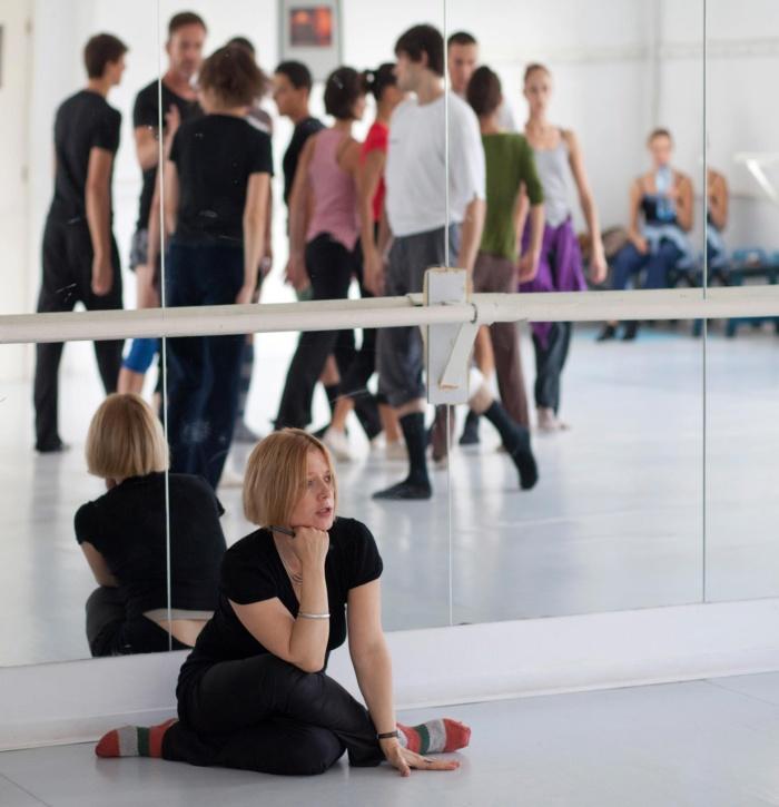 Мила Искренова по време на репетиция - снимка Начо Каменов