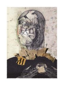 "Лиляна Дворянова, илюстрация към стихотворението на Дорис Мюрингер ""Златни рибки"""